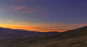 Sunset in the mountains Khizi.Azerbaijan Royalty Free Stock Images