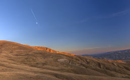Sunset in the mountains Khizi.Azerbaijan Royalty Free Stock Photography