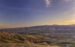 Sunset in the mountains Khizi.Azerbaijan Royalty Free Stock Photography