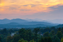 Sunset at the mountains landscape Royalty Free Stock Photos
