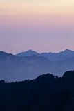 Sunset in mountains, landscape in Corsica Royalty Free Stock Photography