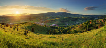 Sunset in  mountains landscape. Polana - Slovakia Stock Image