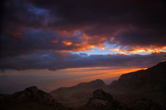 Sunset in the mountains of Mulanje Stock Photography