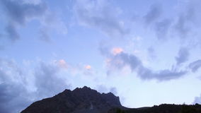 Sunset in the mountains. Pamir, Tazhikistan. Time stock footage