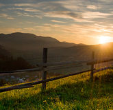 Sunset at the mountains Royalty Free Stock Photos
