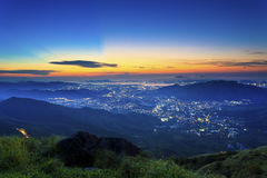 Sunset mountains. It is a sunset scene in Hong Kong Stock Photography