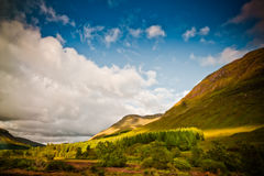 Sunset in mountains, Scotland Royalty Free Stock Photo