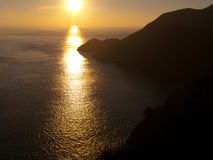 Sunset with mountains and sea. Beautiful sunset with mountain and sea. Near San Francisco Golden Gate Park Stock Photography