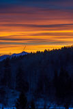 Sunset in mountains Royalty Free Stock Images