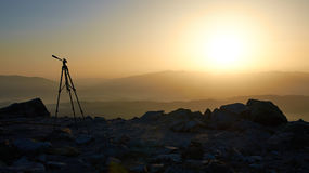 Sunset in the mountains Royalty Free Stock Photos