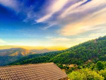 Sunset in the mountains Royalty Free Stock Photography