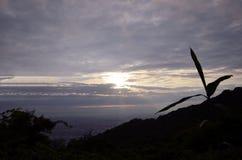 Sunset of the mountaintop of Osaka. Stock Photos