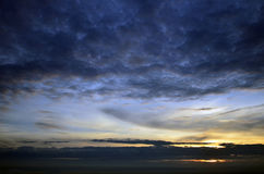 Sunset of the mountaintop of Osaka. Royalty Free Stock Photography