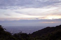 Sunset of the mountaintop of Osaka. Stock Photo
