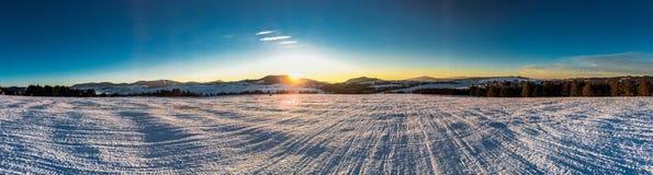 Sunset on the mountin Stock Photo