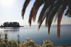 Sunset on a Mouse Island on the Island of Corfu in Greece Royalty Free Stock Image