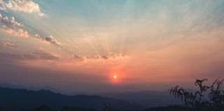 Sunset On the Moutain. Asain Stock Photography
