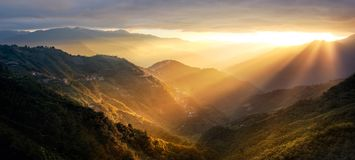 Sunset in the moutains Royalty Free Stock Photos