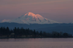Sunset and Mt. Baker, Washington Royalty Free Stock Image