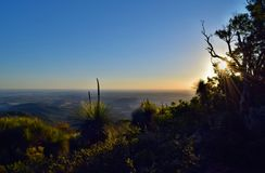 Sunset at Mt Kiangarow in Bunya National Park Stock Photography
