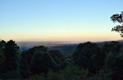 Sunset at Mt Kiangarow in Bunya National Park Royalty Free Stock Photography
