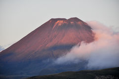 Sunset at Mt Ngauruhoe, New Zealand Royalty Free Stock Photography