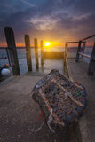Sunset at Mudeford Quay in Hampshire Stock Image