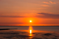 Sunset on the Mudflat Royalty Free Stock Photography
