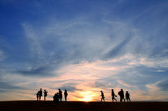 Sunset At Mui Ne Royalty Free Stock Image