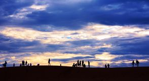 Sunset in mui ne Royalty Free Stock Photos