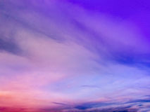 Sunset with multiple colours. On a sping evening Royalty Free Stock Photography