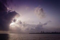 Sunset in Mumabi royalty free stock image
