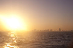Sunset in Mumbai Royalty Free Stock Photo