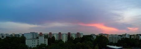 Sunset in Munich - Neuperlach Royalty Free Stock Photos