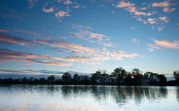 Sunset on the  murray river Royalty Free Stock Photography