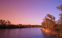 Sunset on the  murray river Royalty Free Stock Photos