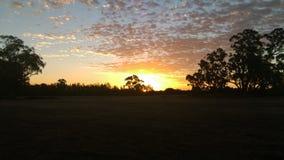 Sunset. Murray river echuca Australia Stock Image