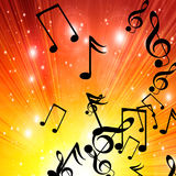 Sunset with music vector illustration