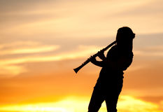 Sunset music session. Stock Photography