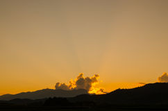 The sunset on my holiday. The beautiful sunset on my holiday Royalty Free Stock Image