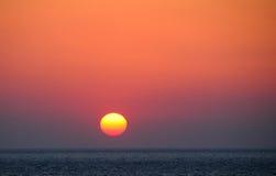 Sunset at Mykonos island Greece Royalty Free Stock Photo