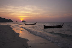 Sunset at Nai Yang beach Royalty Free Stock Images