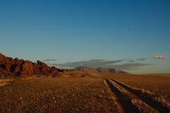 Sunset in the Namib (Namibia) royalty free stock photos