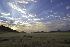 Sunset at Namib Naukluft Park Royalty Free Stock Photography