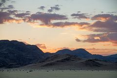 Sunset in Namibia Royalty Free Stock Photography