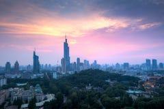 Sunset at Nanjing City Royalty Free Stock Photos