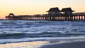 Sunset in Naples, Florida stock video footage