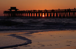 Sunset naples pier Stock Images