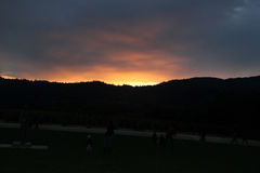 Sunset in Nappa Valley, California Stock Images