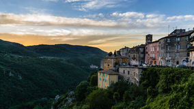 Sunset in Narni Stock Photography